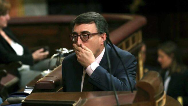 Aitor Esteban, durante el debate de la moción de censura.