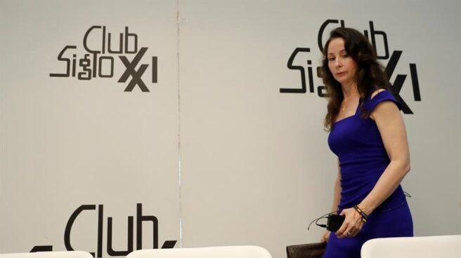 La magistrada Mercedes Alaya, en el coloquio organizado por el Club Siglo XXI.