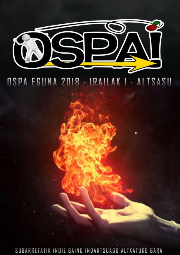 Cartel anunciador del 'Ospa Eguna' en Alsasua para el 1 de septiembre.