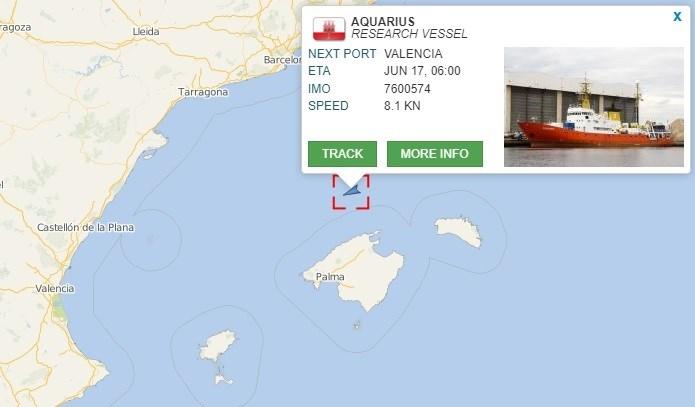 Localización Aquarius.
