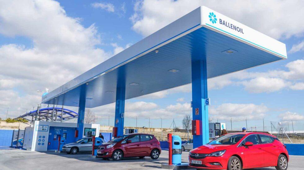 Una gasolinera automática de la red de Ballenoil.
