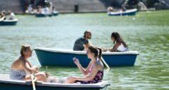 Barcas en El Retiro de Madrid.