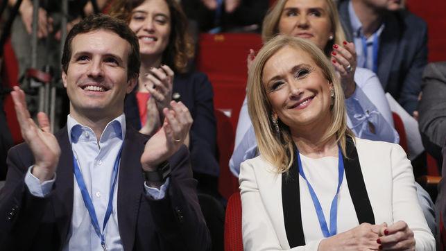 Pablo Casado junto a Cristina Cifuentes, en un acto del Partido Popular.