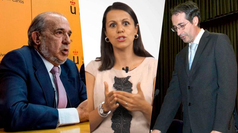 Enrique Álvarez Conde, Alicia López de los Mozos y Fernando Suárez Bilbao.