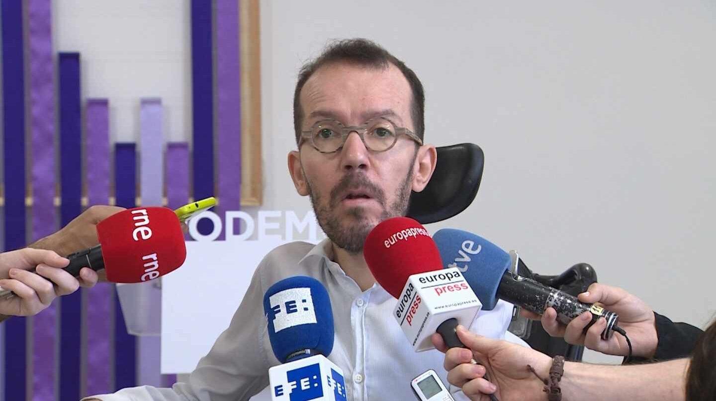 """Echenique pide a Sánchez un Gobierno de coalición ante """"los retos hasta 2020""""."""