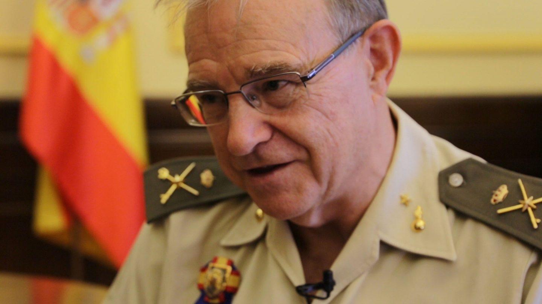 El general de brigada Miguel Ángel Ballesteros, en una entrevista con 'El Independiente'.