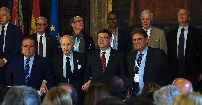 El presidente de la Fundación Rei Jaume I y el president de la Generalitat Valenciana Ximo Puig