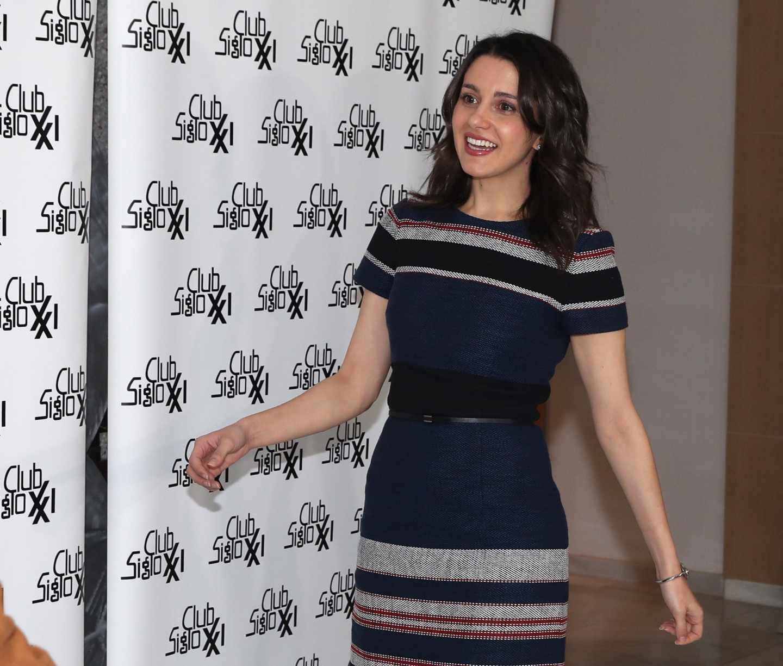 La portavoz nacional de Ciudadanos, Inés Arrimadas, en el Club Siglo XXI.