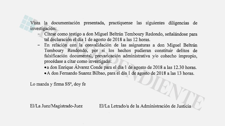 Investigados máster Pablo Casado