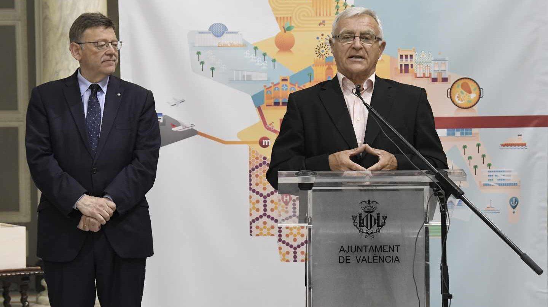 El alcalde de Valencia, Joan Ribó, junto al presidente de la Generalitat, Ximo Puig.