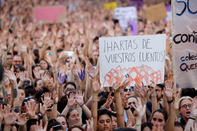 Manifestación contra la sentencia de La Manada.