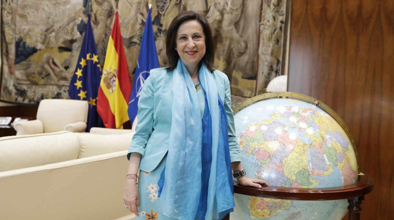 Margarita Robles, en su despacho del Ministerio de Defensa.