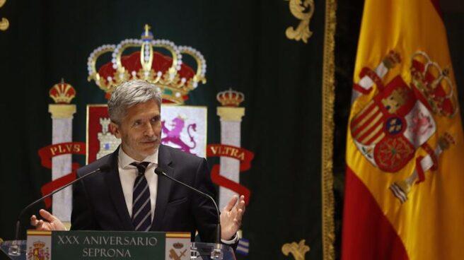 Fernando Grande-Marlaska, en uno de sus primeros actos como ministro del Interior.