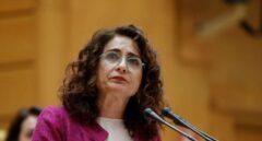 La ministra de Hacienda, María Jesús Montero, en el Senado.