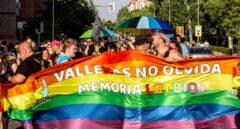 Manifestación del Orgullo en el barrio de Vallecas en Madrid