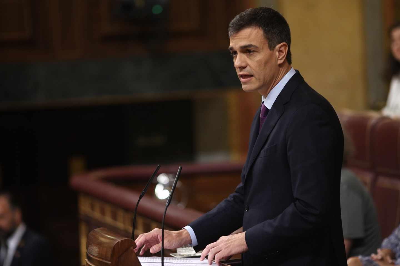 Pedro Sánchez, en su comparecencia en el Congreso.