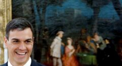 Pedro Sánchez, durante el acto de jura de sus ministros en el palacio de Zarzuela.