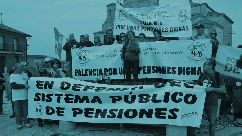 Manifestación a favor de la mejora de las pensiones.