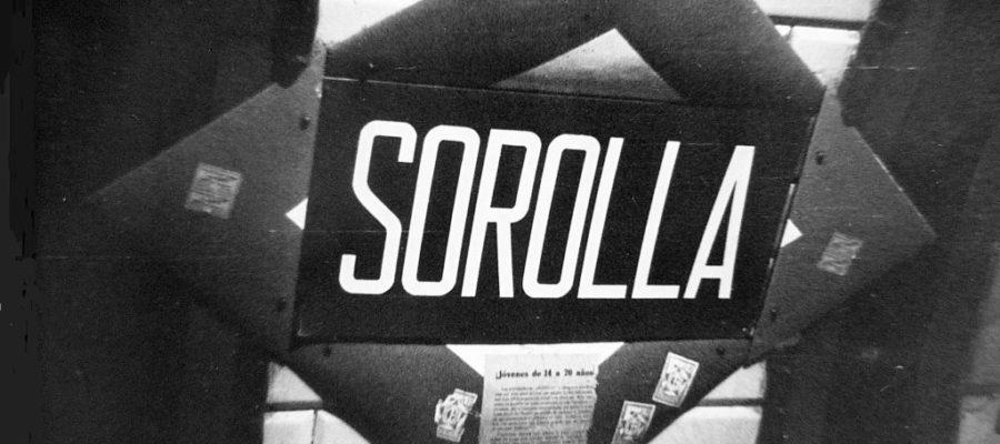 Placa de Metro de Madrid de la estación Sorolla, hoy Iglesia