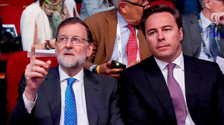 Dos ex presidentes juntos: Mariano Rajoy y Dimas Gimeno