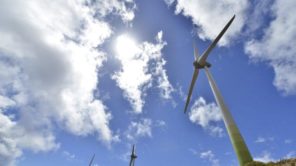 Instalación de energía eólica.