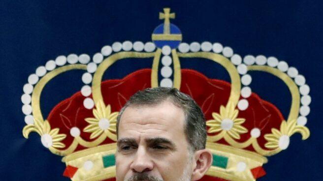 El Rey Felipe, durante la clausura el XIX curso de Estado Mayor de la Escuela Superior de las Fuerzas Armadas.