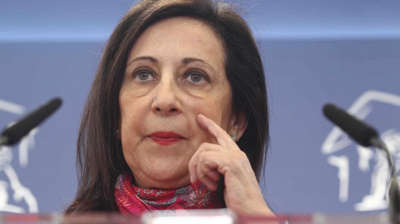 Margarita Robles, en una comparecencia pública en el Congreso de los Diputados.