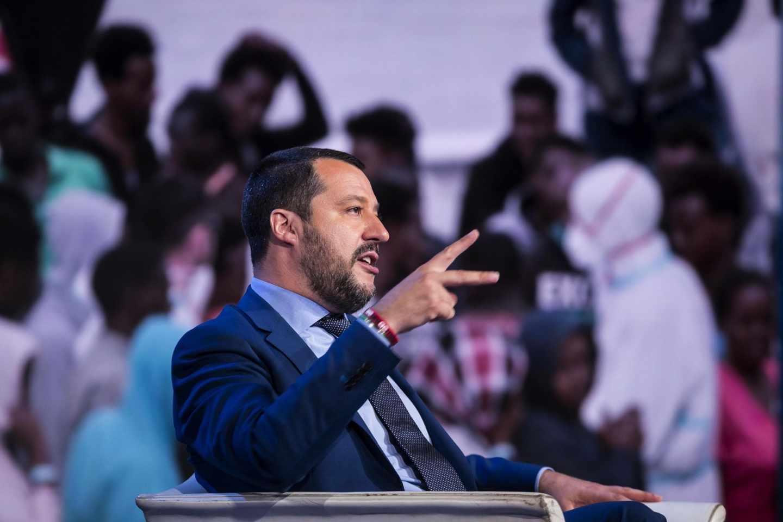Matteo Salvini, durante un acto.