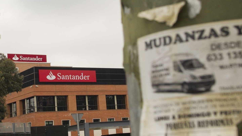Exterior de una de las instalaciones del Banco Santader.