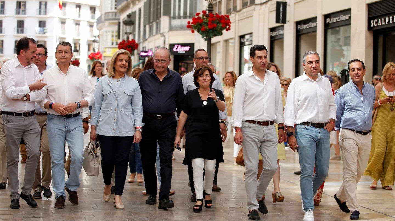 Soraya Sáenz de Santamaría, durante la apertura de su campaña este fin de semana en Málaga.