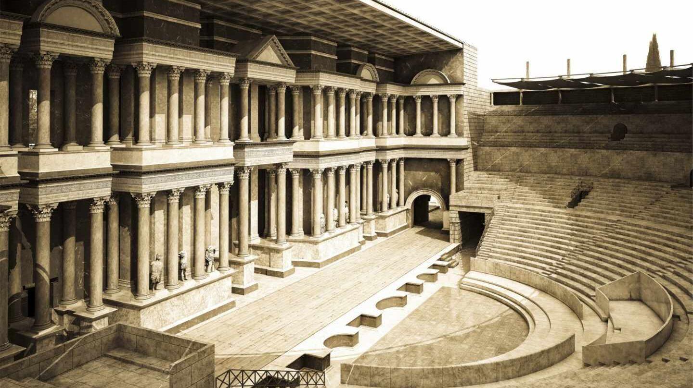 Reconstrucción del Teatro Mérida en 3D