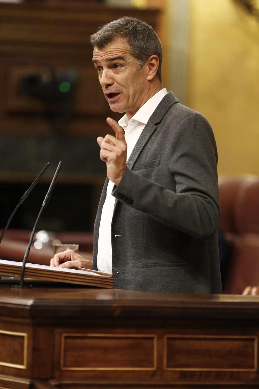 Toni Cantó, durante su intervención en el Congreso de los Diputados.