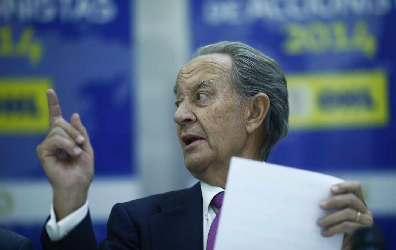 El presidente de Grupo Villar Mir, Juan Miguel Villar Mir, en la junta de accionistas de OHL de 2014.