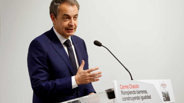 José Luis Rodríguez Zapatero, durante un acto este lunes.