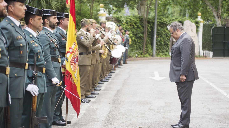 Juan Ignacio Zoido, en un reciente acto con motivo del 174 aniversario de la creación de la Guardia Civil.