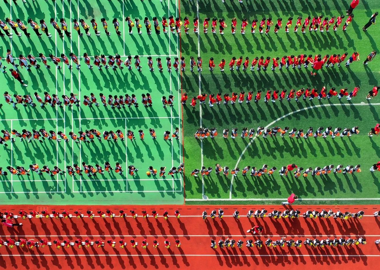 Segundo finalista. 'Deportistas bajo el sol' de Senrong Hu.