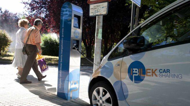 Punto de recarga para vehículos eléctricos en el País Vasco.