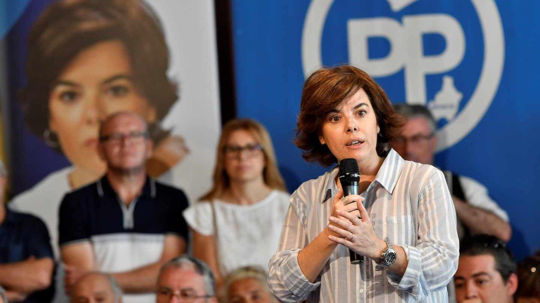 La candidata del PP Soraya Sáenz de Santamaría.