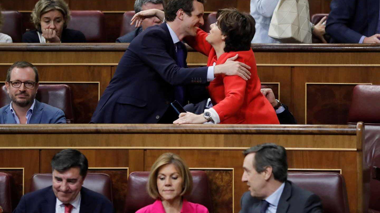 Pablo Casado y Soraya Sáenz de Santamaría.