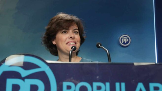La ganadora de las primarias, Soraya Sáenz de Santamaría