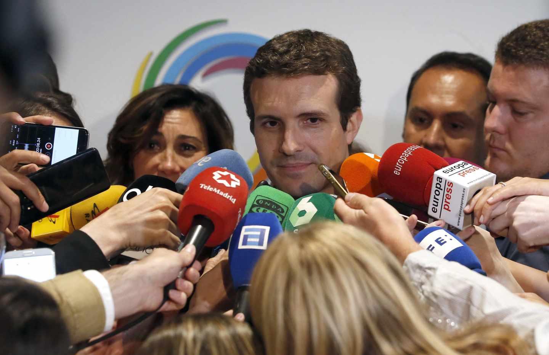 Pablo Casado, candidato a la presidencia del PP.