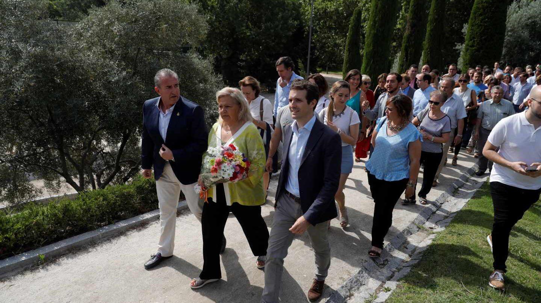 Pablo Casado, en un homenaje a las víctimas del terrorismo en Madrid.
