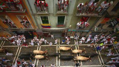 El diluvio marca el segundo encierro de San Fermín sin heridos