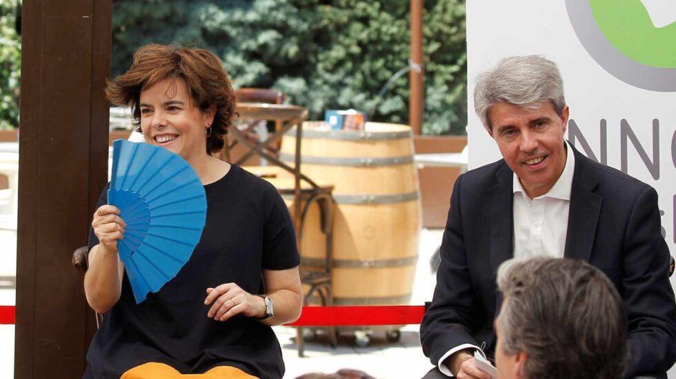 Sáenz de Santamaría con Garrido, que apoyó a Cospedal, este fin de semana en un acto en Madrid