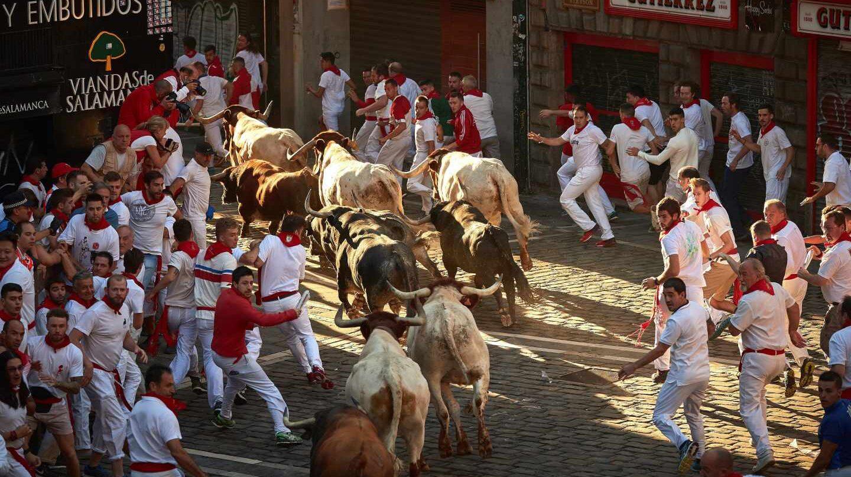 Encierro de los toros de Cebada Gago.