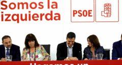 Pedro Sánchez preside la Ejecutiva del PSOE.