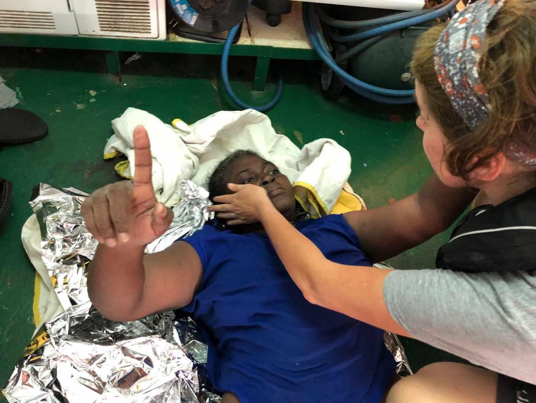 """Josefa, la superviviente rescatada por el Open Arms, se recupera pero sufre """"estrés agudo"""""""