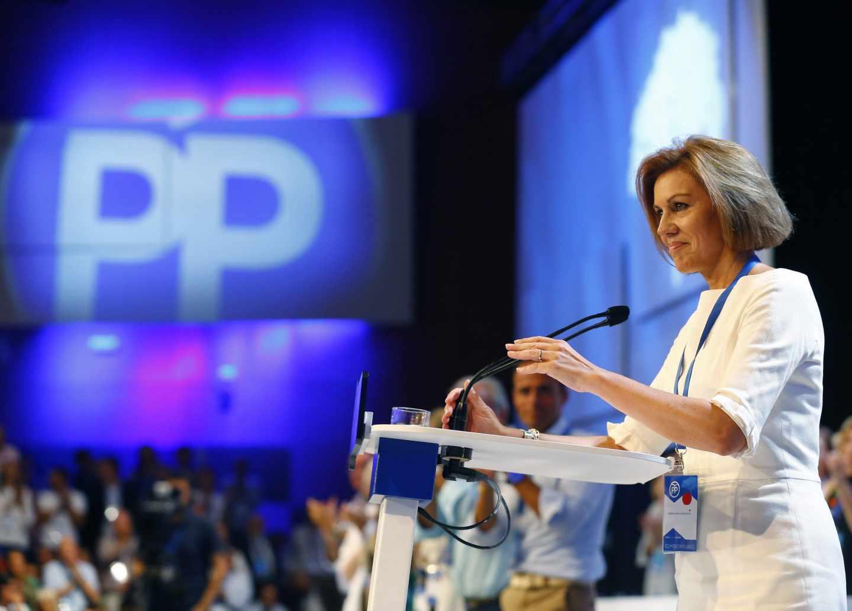 María Dolores de Cospedal, en el Congreso del PP.
