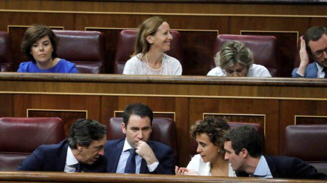 Pablo Casado y su nuevo equipo, en el Congreso.