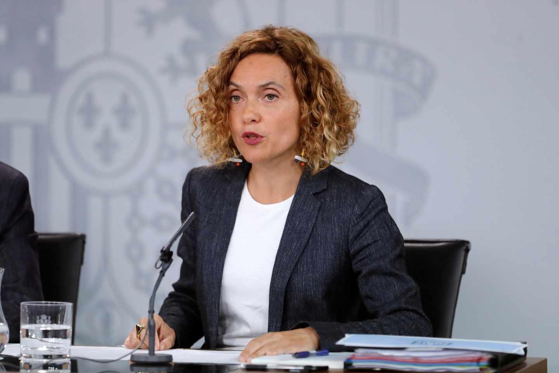 Meritxell Batet, tras el Consejo de Ministros.